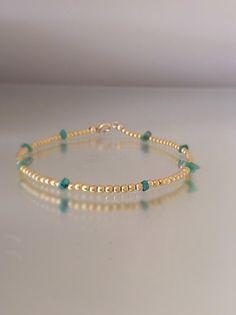 Emerald and gold bracelet. May birthstone. by LilyFloJewellery