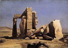 """Charles Gleyre, """"Egyptian Temple"""", 1840 © Musée Cantonal des Beaux-Arts in Lausanne"""