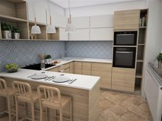 Country Kitchen Designs, Sweet Home, Kitchen Cabinets, Vanity, Dishes, Table, Furniture, Home Decor, Dressing Tables