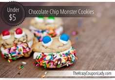 Chocolate Chip Monster Cookies - use my own cookie recipe instead of prepackaged. Alicia's request.