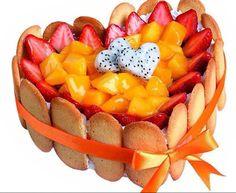 frutas coração