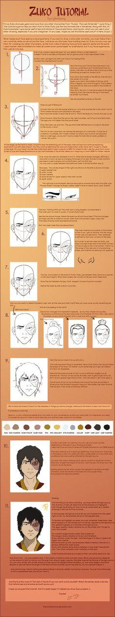 How To Draw Zuko-Tutorial by *Lulu-Lomaki on deviantART