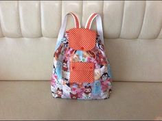 Sew a small backpack for children - Tuto Couture Madalena My Bags, Purses And Bags, Backpack Tutorial, Cute Mini Backpacks, Baby Couture, Small Backpack, Sewing Toys, Doll Clothes Patterns, Cloth Bags