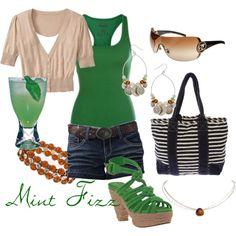 Mint Fizz (drink inspired fashion)