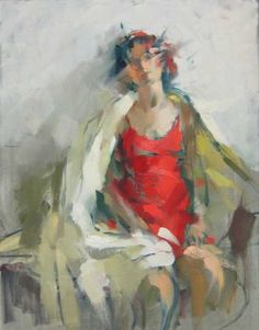 """""""Monique in White Cape"""" by MAGGIE SINER - am taking a workshop from her this fall; can't wait"""