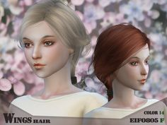 Hair F EIFO805 by WingsSims at TSR via Sims 4 Updates  Check more at http://sims4updates.net/hairstyles/hair-f-eifo805-by-wingssims-at-tsr/