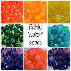 "Sensory Activities : Edible ""water"" beads using Boba tea tapioca balls. This is brilliant!"