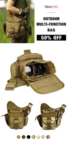 50%OFF Waterproof Nylon Camera Bag Outdoor Multi-functional Crossbody Bag  Tactical 424826b4c5227