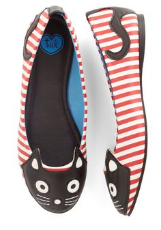 Flats: T.U.K. Up Your Alley Cat Flat in Stripes ($60)