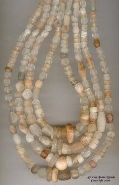 Quartz trade beads