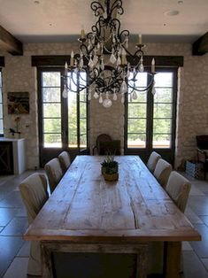 French Country Dining Room Table and Decor Ideas (58)