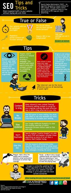 This great #infographic that shows you a few of our tips and tricks about #SEO