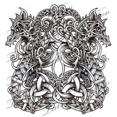 Norse Dragons/Serpents tattoo design