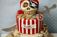Pirate cake for child's birthday | Handspire [Spanish page content]