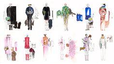 Fashion designs by Dimitri Arvanitis