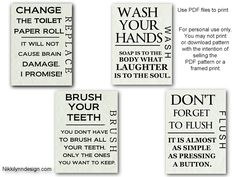 bathroom print pic- pdf file to print FREE