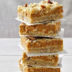 Pumpkin Cream Cheese Bars - Recipes, Dinner Ideas, Healthy Recipes & Food Guide