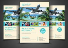 Travel Agency Corporate Flyer ~ Flyer Templates on Creative Market