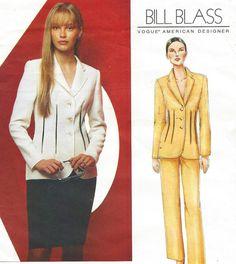 Bill Blass Vogue Sewing Pattern 2464 Womens Below by CloesCloset