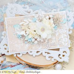 Druga tura inspiracji wyzwaniowych / The second reveal of challenge inspirations Gossamer Blue, Mixed Media Cards, Shabby Chic Cards, Creative Cards, Cardmaking, Birthday Cards, Two By Two, Decorative Boxes, Challenges