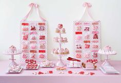 Amy Atlas' Darling Dots sweet table. Candy boards make a fun and functional backdrop! www.amyatlas.com