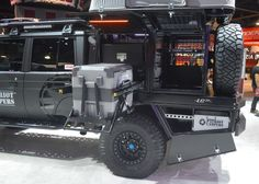 In photos: SEMA RVs, XVs, camper vans and adventure rigs Pickup Canopy, Ford Ranger Camper, Landcruiser Ute, Ute Canopy, Land Cruiser 70 Series, Expedition Truck, Rescue Vehicles, Toyota Trucks, Toyota Hilux