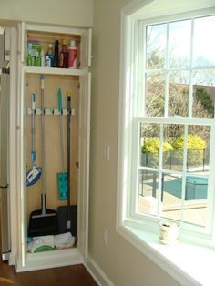 Broom Mop Storage For Kitchen Or Utility Room Mud