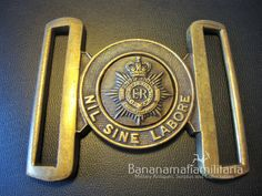 Original Royal Canadian Army Service Corps army brass ceremonial belt buckle in Collectables, Militaria, 1946-1960 | eBay