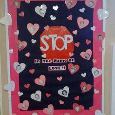 Valentines day door decoration