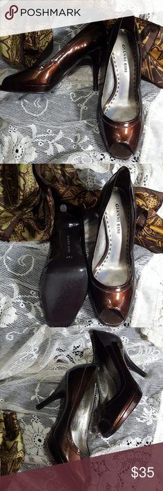 43b31753b55 Gianni Bini Brown Heels GianniBini brown open toe beels. Heel is 3.5