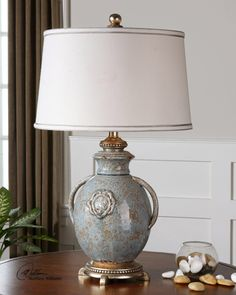 """Cancello 28.5"""" H Table Lamp with Drum Shade"""