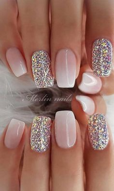 29 awesome and cute summer nails design ideas and pictures for 2019 - page 6 of . - 29 Awesome and Cute Summer Nails Design Ideas and Pictures for 2019 – Page 6 of 28 – ROn – Ne - Chic Nail Designs, Cute Summer Nail Designs, Cute Summer Nails, Winter Nail Designs, Acrylic Nail Designs, Summer Design, Nail Ideas For Winter, Spring Nails, Summer Holiday Nails