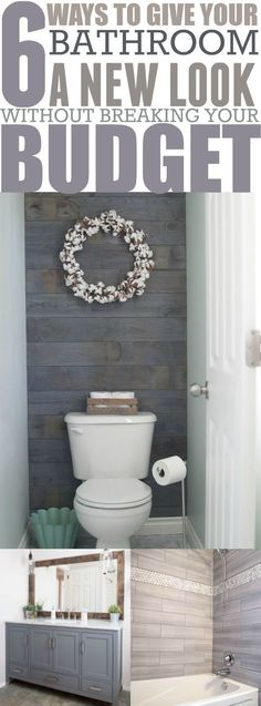 6 budget friendly bathroom makeover projects