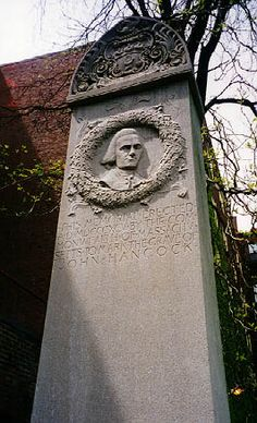 John Hancock, American Patriot Leader and signer of the Declaration of Independence; 1/12/1737-10/8/1793, Granary Burial Ground, Boston, Mass, USA