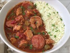 Packed with Creole/Cajun flavors, this easy gumbo recipe is sure to please. Make this cleaned up version of gumbo in your slow cooker or Instant Pot. Keto Gumbo Recipe, Jambalaya Recipe Instant Pot, Instant Pot Dinner Recipes, Tasty Recipe, Haitian Food Recipes, Cajun Recipes, Whole Food Recipes, Gumbo Recipes, Louisiana Recipes