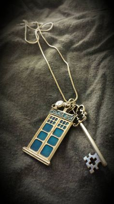 TARDIS & Her Key necklace! #DoctorWho