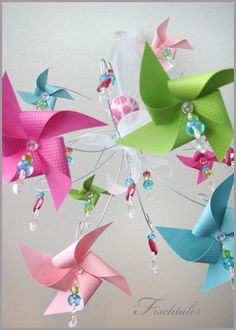 Pinwheel Chandelier Mobile by fischtaledesigns on Etsy. $155.00, via Etsy.