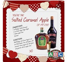 Baileys and Crown are a perfect match in this Salted Caramel Apple recipe Apple Crown Drinks, Crown Apple, Crown Royal Drinks, Refreshing Drinks, Summer Drinks, Liquor Drinks, Bourbon Drinks, Beverage, Alcholic Drinks
