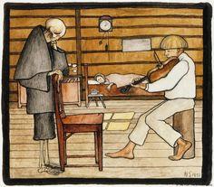 Hugo Simberg: Kuolema kuuntelee, 1897