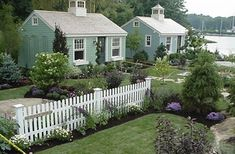 """My """"retirement"""" dream is to buy a couple of acres in Florida, and build a number of """"Katrina cottages"""" around a garden similar to this (Cabot Cove Cottages, Kennebunkport, ME)"""