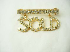 Vintage Rhinestone Sold Brooch Mechanical by NeatstuffAntiques, $35.00
