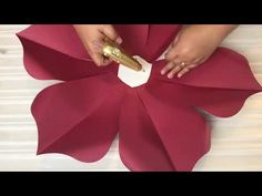 How to Assemble Petal 3 is part of Paper flowers www etsy com - Paper Flowers Craft, Large Paper Flowers, Crepe Paper Flowers, Paper Flower Backdrop, Giant Paper Flowers, Paper Roses, Flower Crafts, Diy Flowers, Fabric Flowers