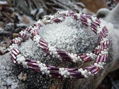 Winter spiral rope Beading Projects, Beadwork, Spiral, Pendants, Beads, Bracelets, Winter, Earrings, Accessories