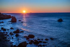 Original art for sale at UGallery.com | Pacific Sunset by Mathew Lodge | photography | 36' h x 24' w