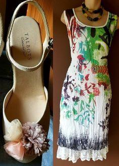 Alberto Makali New York multi-color graphic dress, Sz large #AlbertoMakali