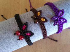 Macrame Bracelet with a Butterfly/Micromacrame by MACRANI on Etsy