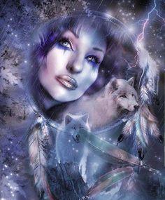 Purple Wolves w/ Girl