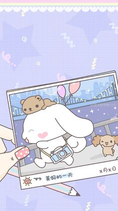 A cute little photographer running around in town! Cute Pastel Wallpaper, Soft Wallpaper, Sanrio Wallpaper, Kawaii Wallpaper, Wallpaper Iphone Cute, Disney Wallpaper, Cute Wallpapers, Kawaii Chibi, Kawaii Cute