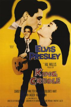 King Creole young elvis cool looking that's why he is the king