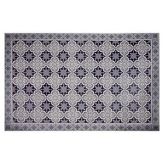 Cement Tile Motif Vinyl Rug 100 x 150 on Maisons du Monde. Vinyl Rug, Cost Of Carpet, Carpet Tiles, Carpet Runner, Outdoor Rugs, Runners, Portland Oregon, Home Decor, Motifs